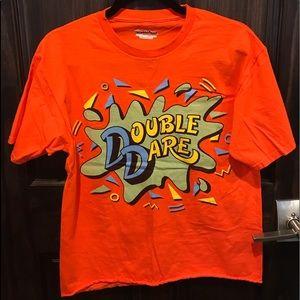 Nickelodeon Double Dare Orange Cropped Mens TShirt